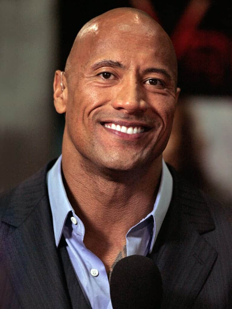 Portrait of Dwayne Johnson.
