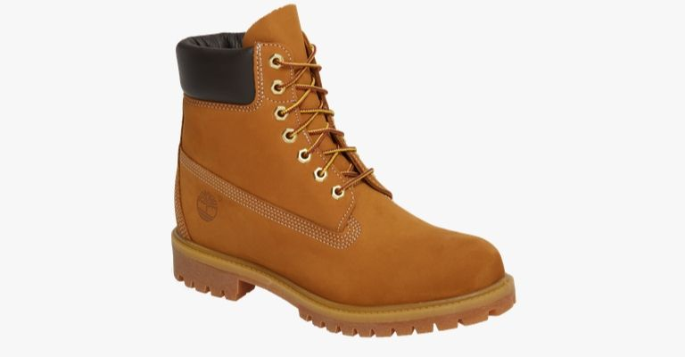 Tan work boots.
