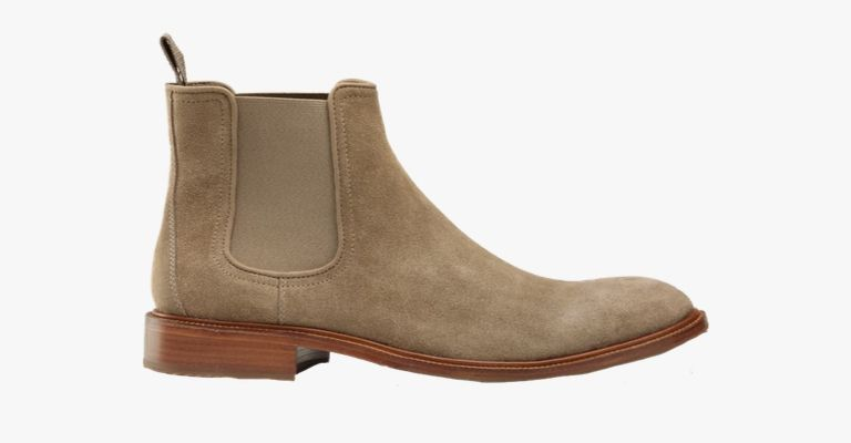 Tan suede Chelsea boot by Trask.