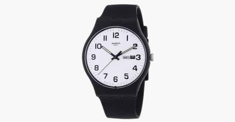 Black silicone watch.