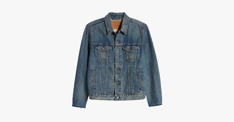 Blue denim jacket.