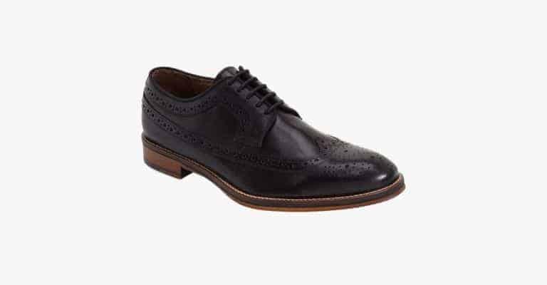 Black wingtip shoes.