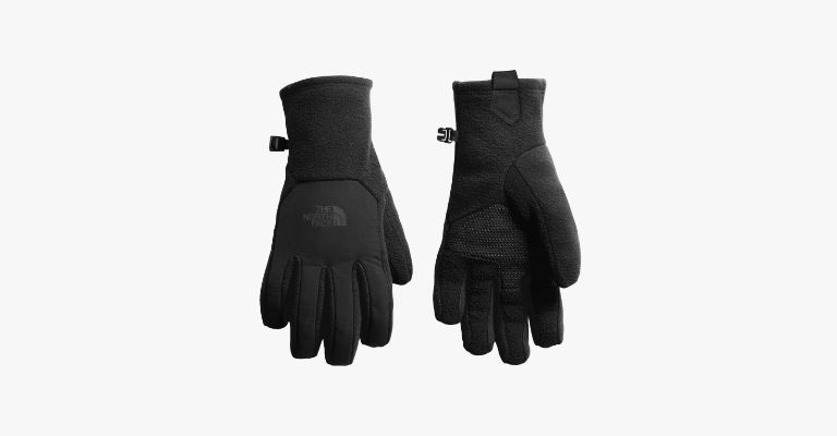 Black thermal gloves.