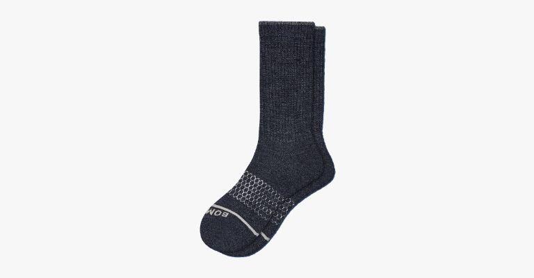 Dark grey wool socks.
