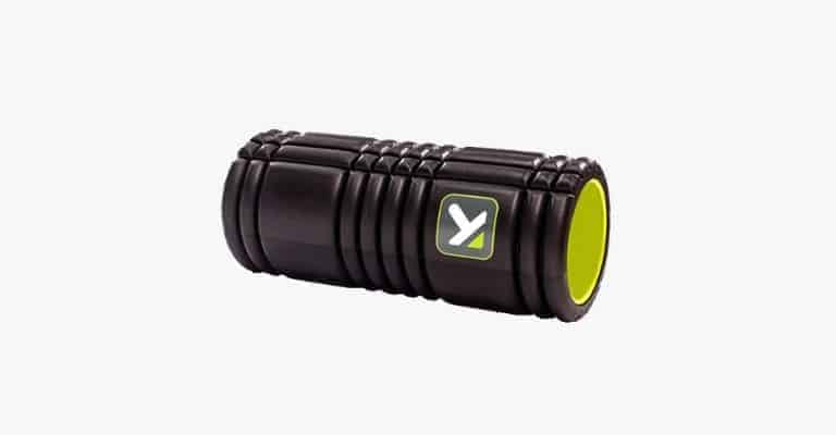 Black and green foam roller.