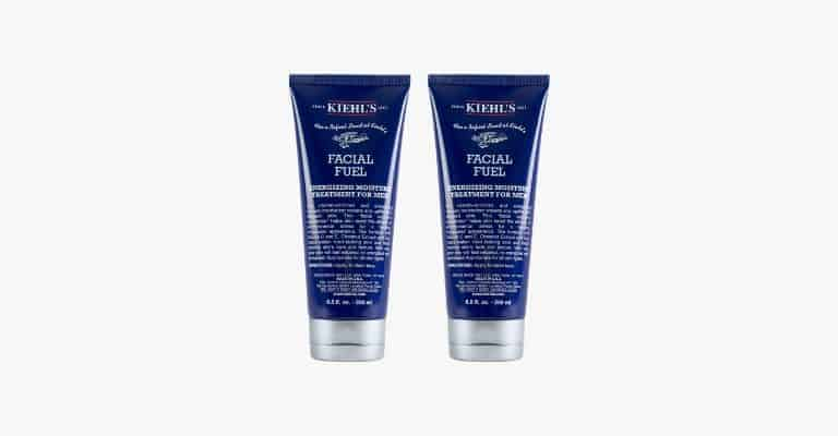 Two bottles of face moisturizer.
