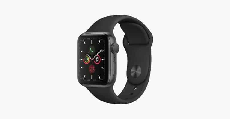 Black Apple watch.