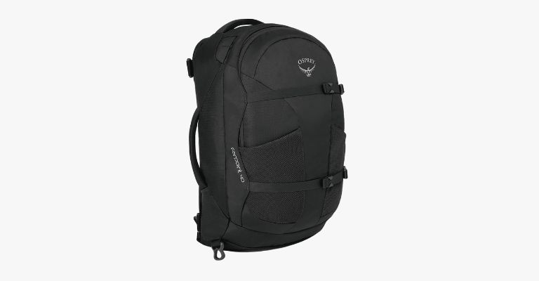Black backpack.