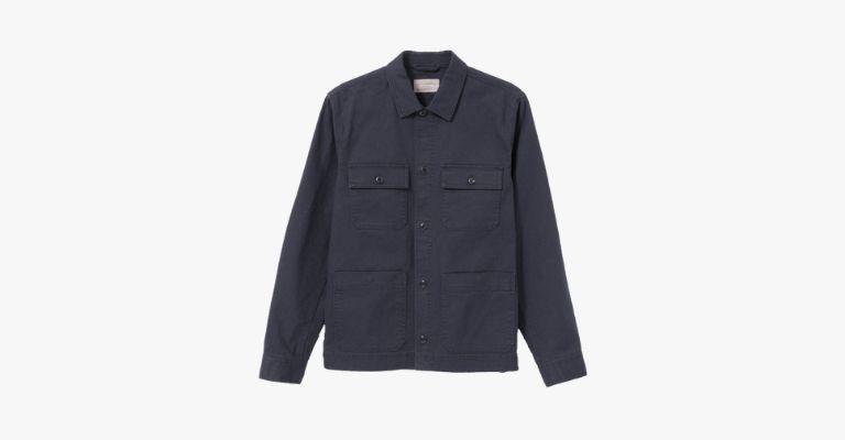 Navy chore jacket.