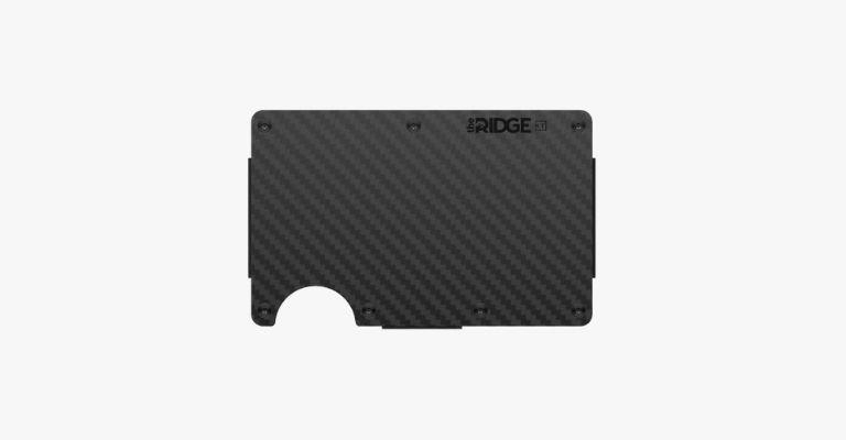 Black carbon fiber cardholder.