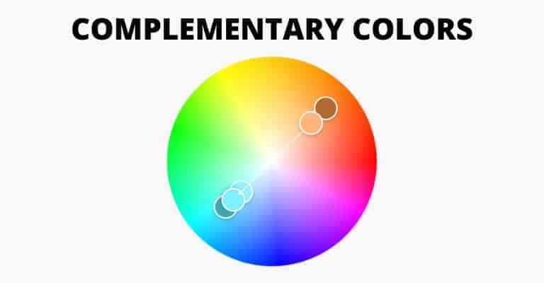 The color wheel showing complementary colors.