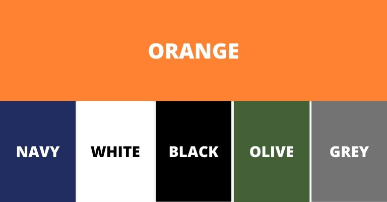 Colors that pair well with orange.