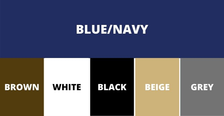 Colors that pair with blue or navy.