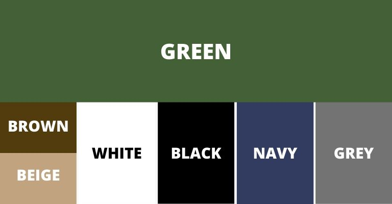 Colors that pair with green.