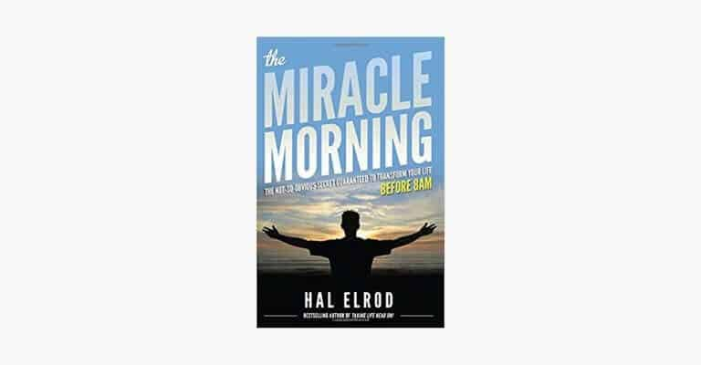 Book cover of The Miracle Morning by Hal Elrod.