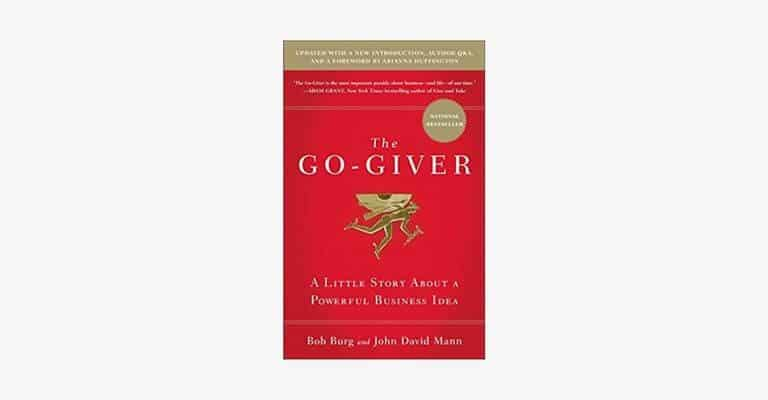 Book cover of The Go-Giver by Bob Burg.