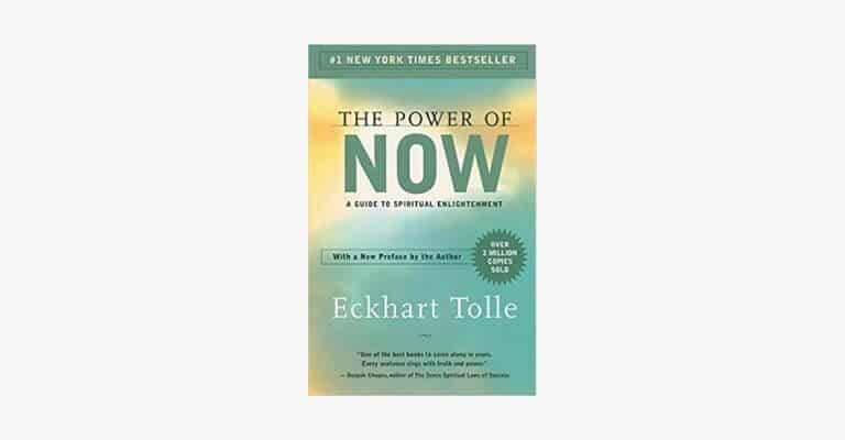 Book cover of The Power of Now by Eckart Tolle.