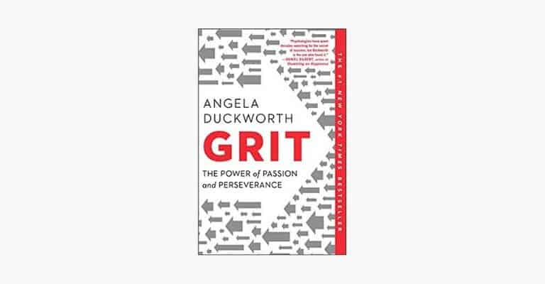 Book cover of Grit by Angela Duckworth.