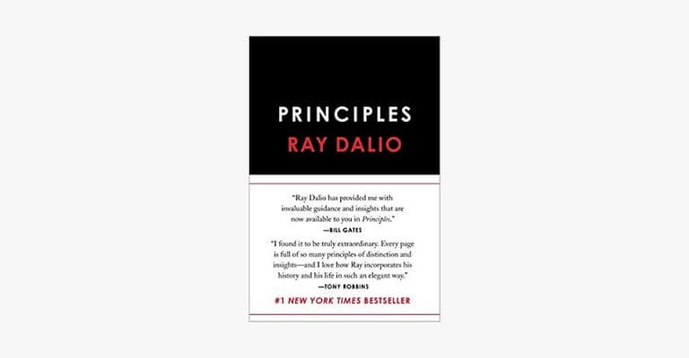 Book cover of Principles by Ray Dalio.