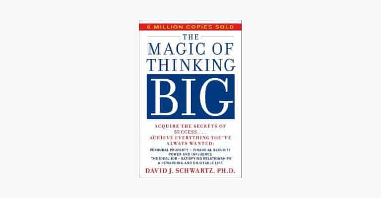 Book cover of The Magic of Thinking Big by David Schwartz.