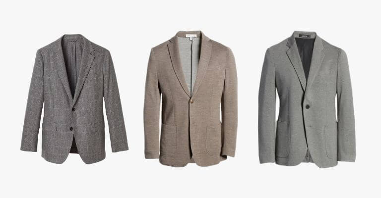 Examples of smart casual blazers and sport coats.