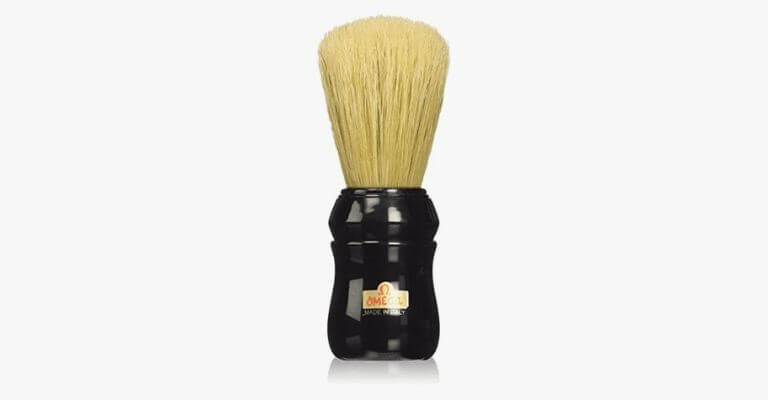 Boar hair shaving brush.