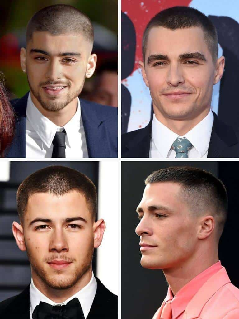 4 examples of the buzz cut.