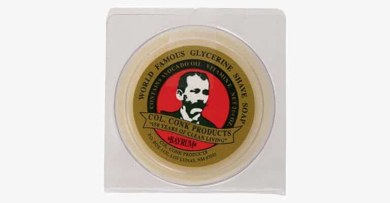 Glycerine shaving soap.