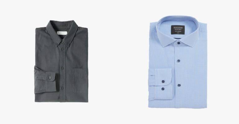 2 collared shirts.