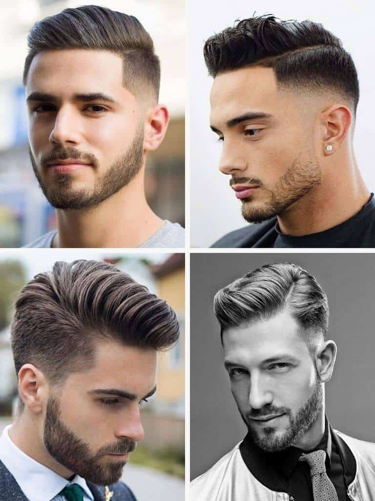 4 examples of a comb-over haircut.