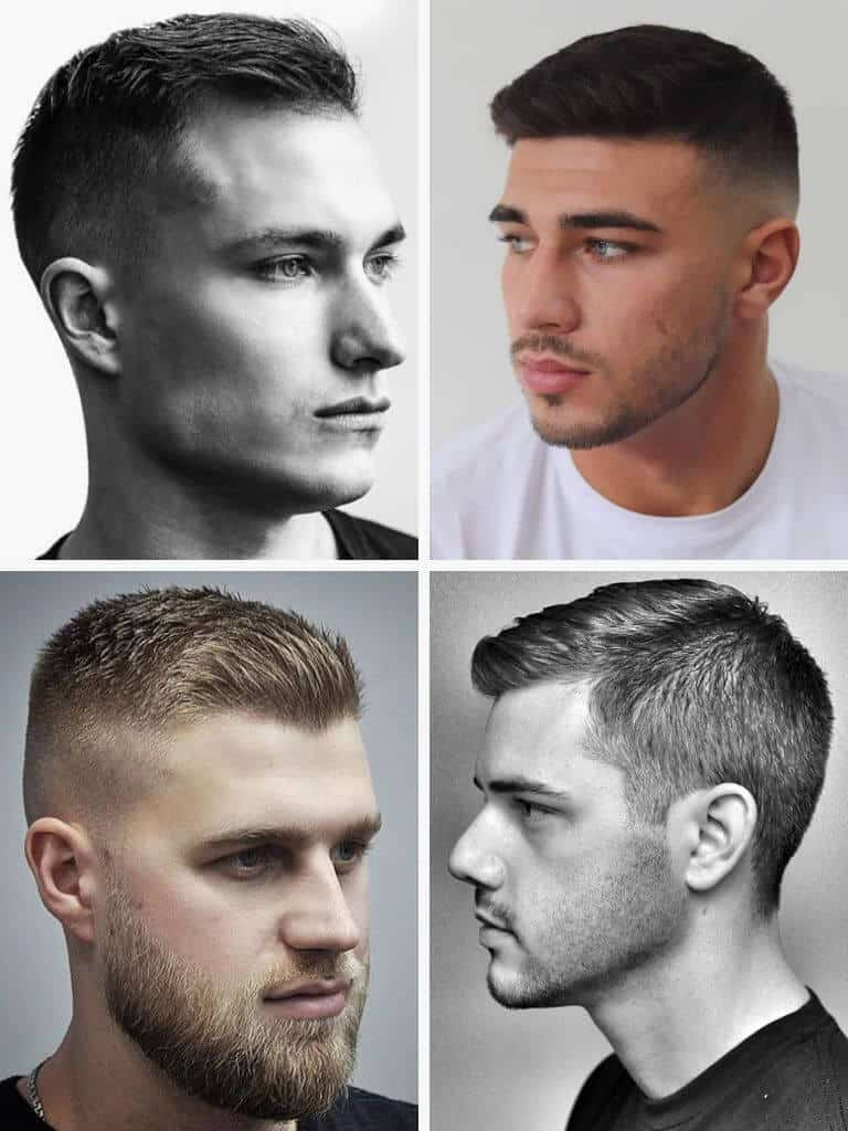 4 examples of the crew cut.