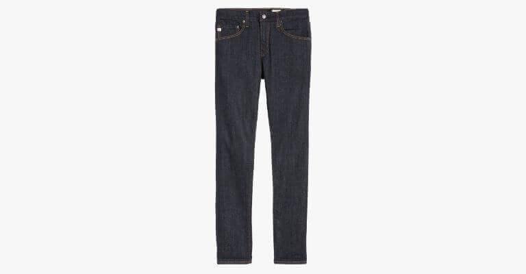 Dark blue jeans.
