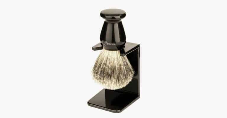 Black shaving brush with the holder.