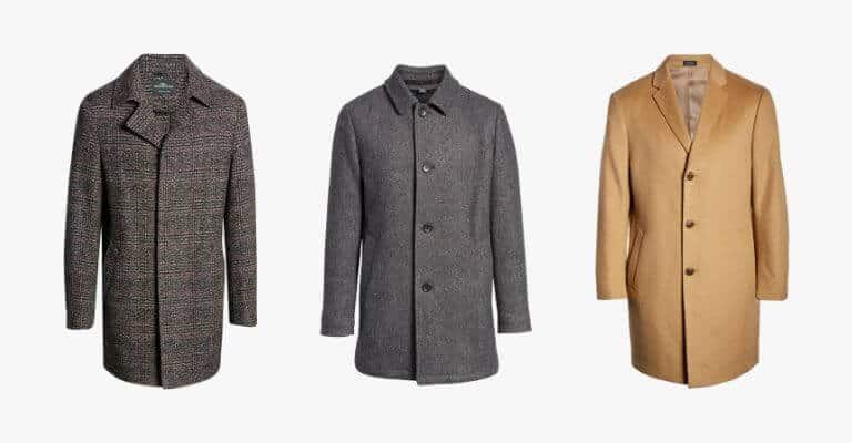 Types of coats for smart casual attire.