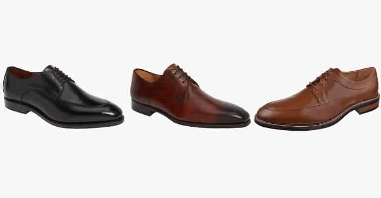 Variety of derby shoes.