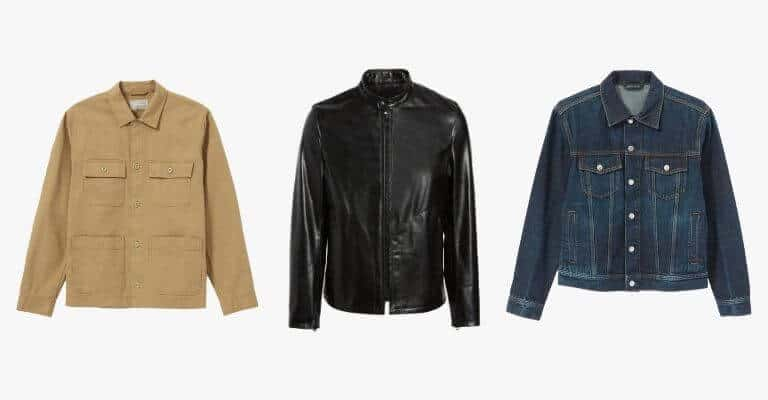 3 smart casual jackets.