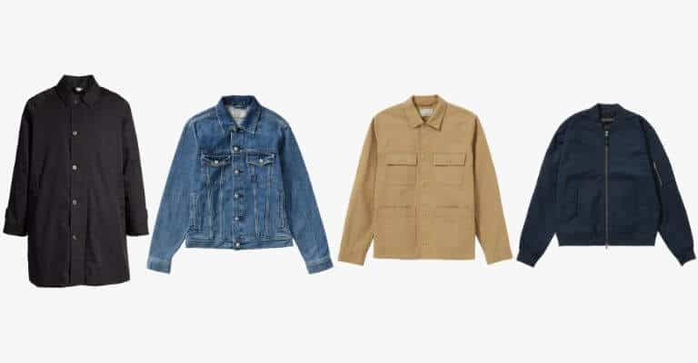 Types of spring outerwear.