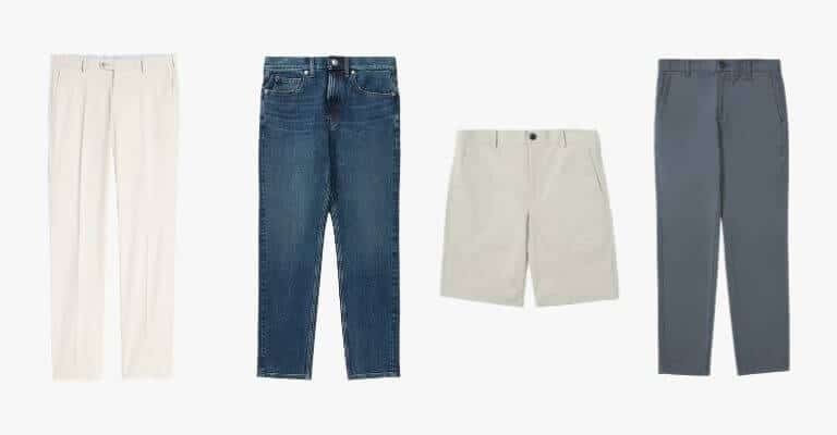 Types of pants for spring.