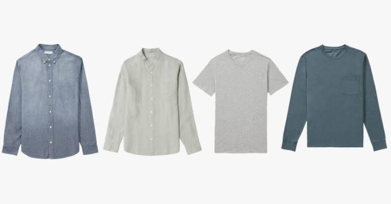 Types of spring shirts.