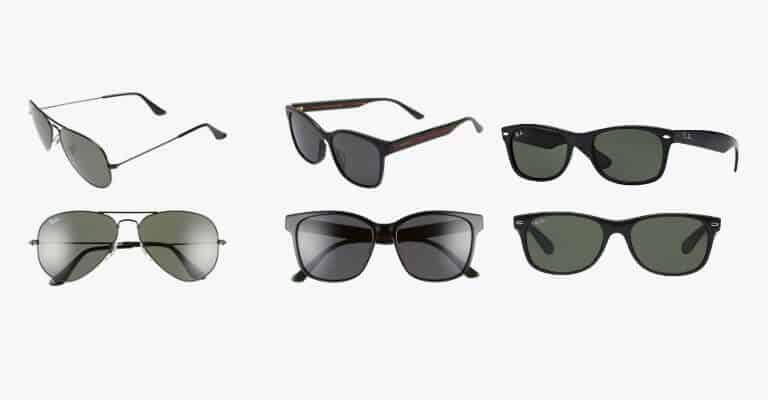 Different pairs of sunglasses.