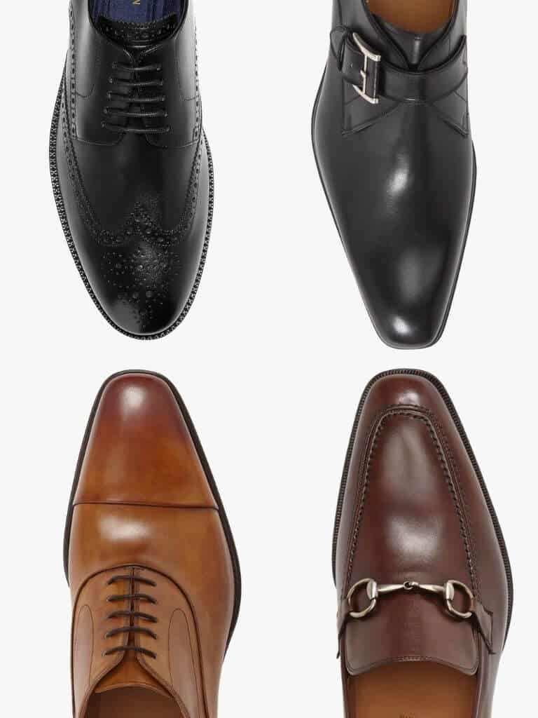 4 types of dress shoes.