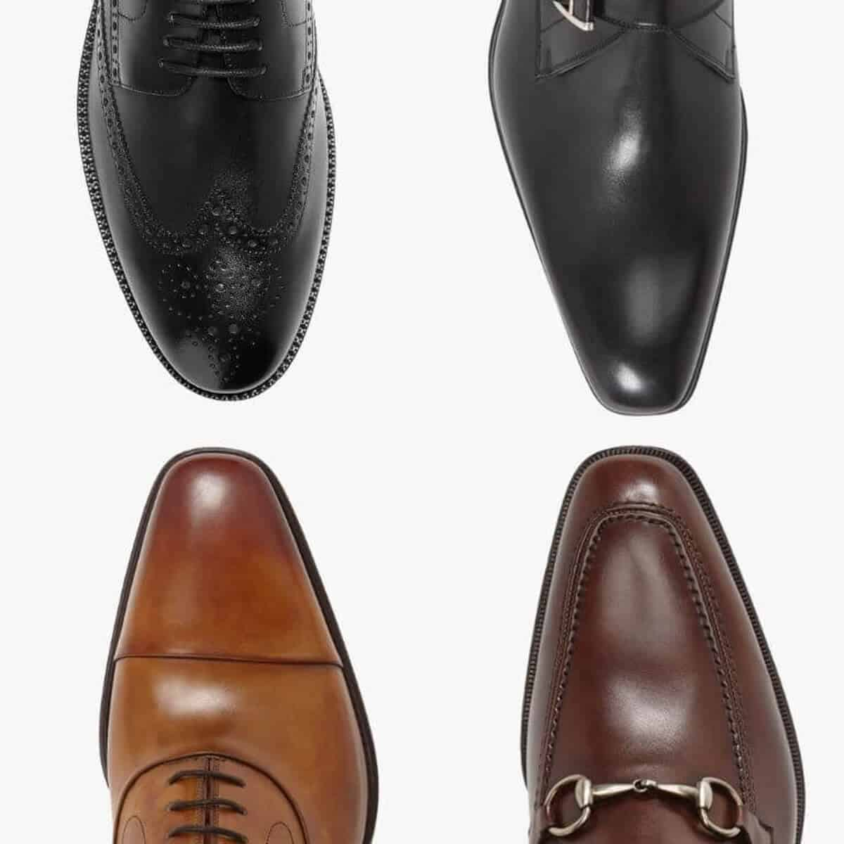 Four types of dress shoes.