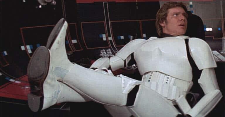 Han Solo in a Stormtrooper uniform.