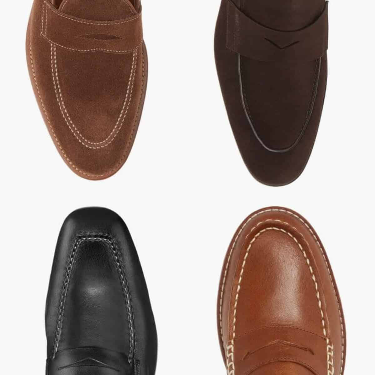 Four different penny loafers.