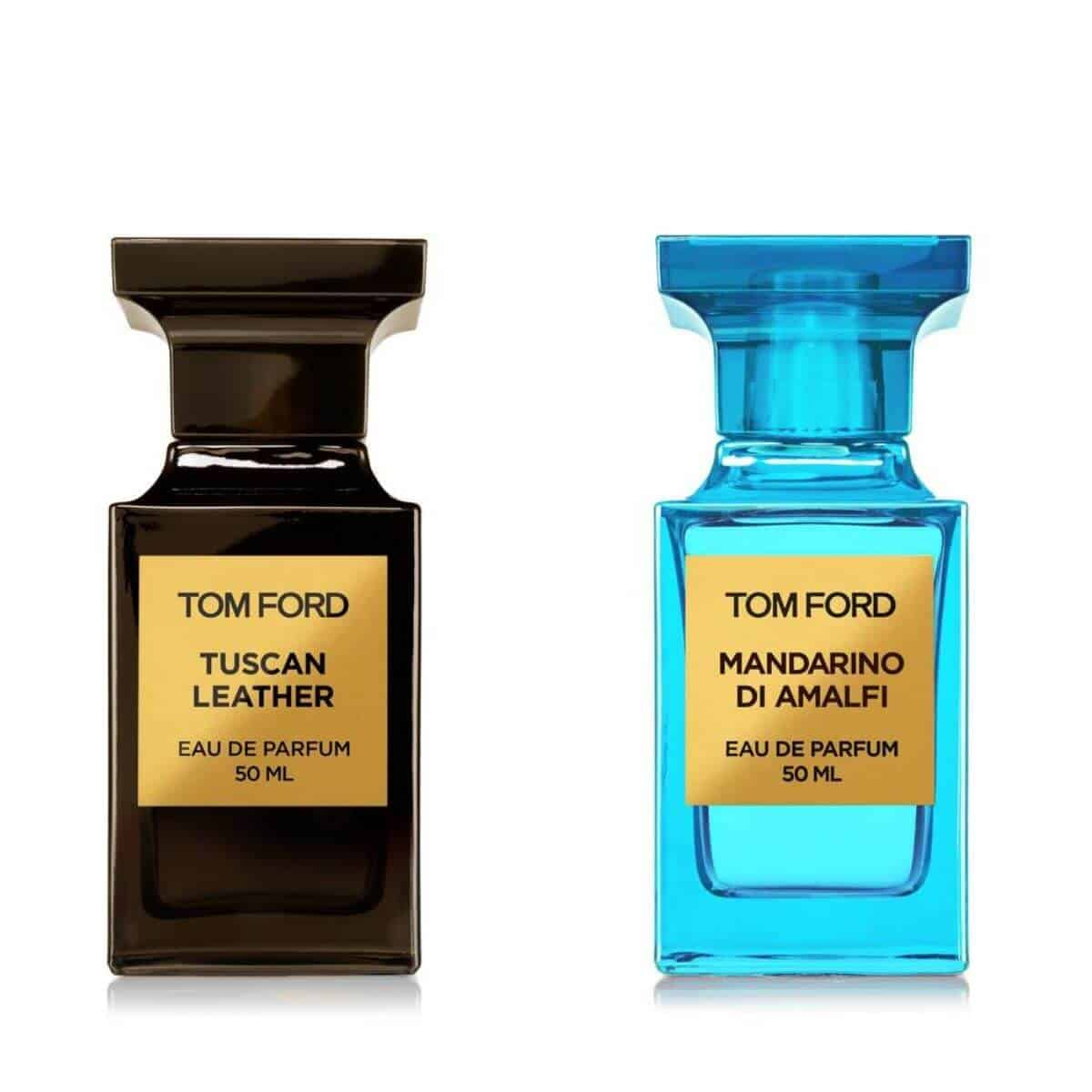 Two Tom Ford colognes.