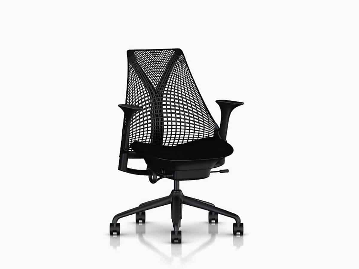Herman Miller Sayl mesh home office chair.