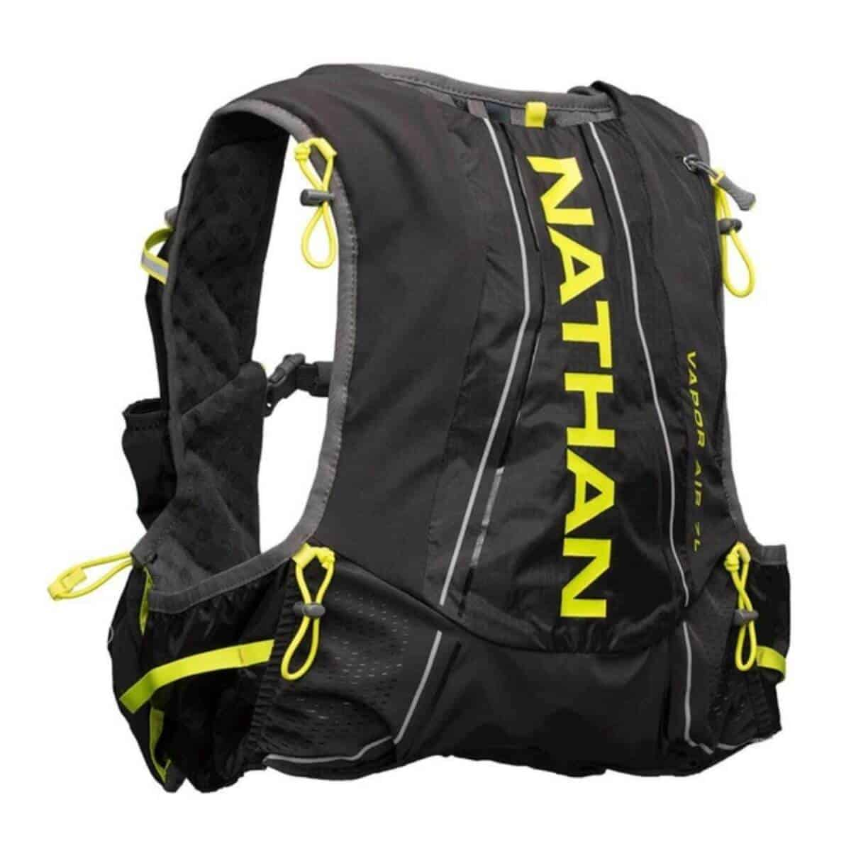 Black and yellow hydration pack.