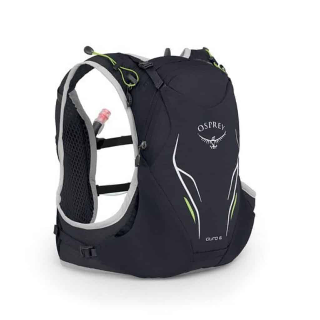 Black Osprey hydration pack.