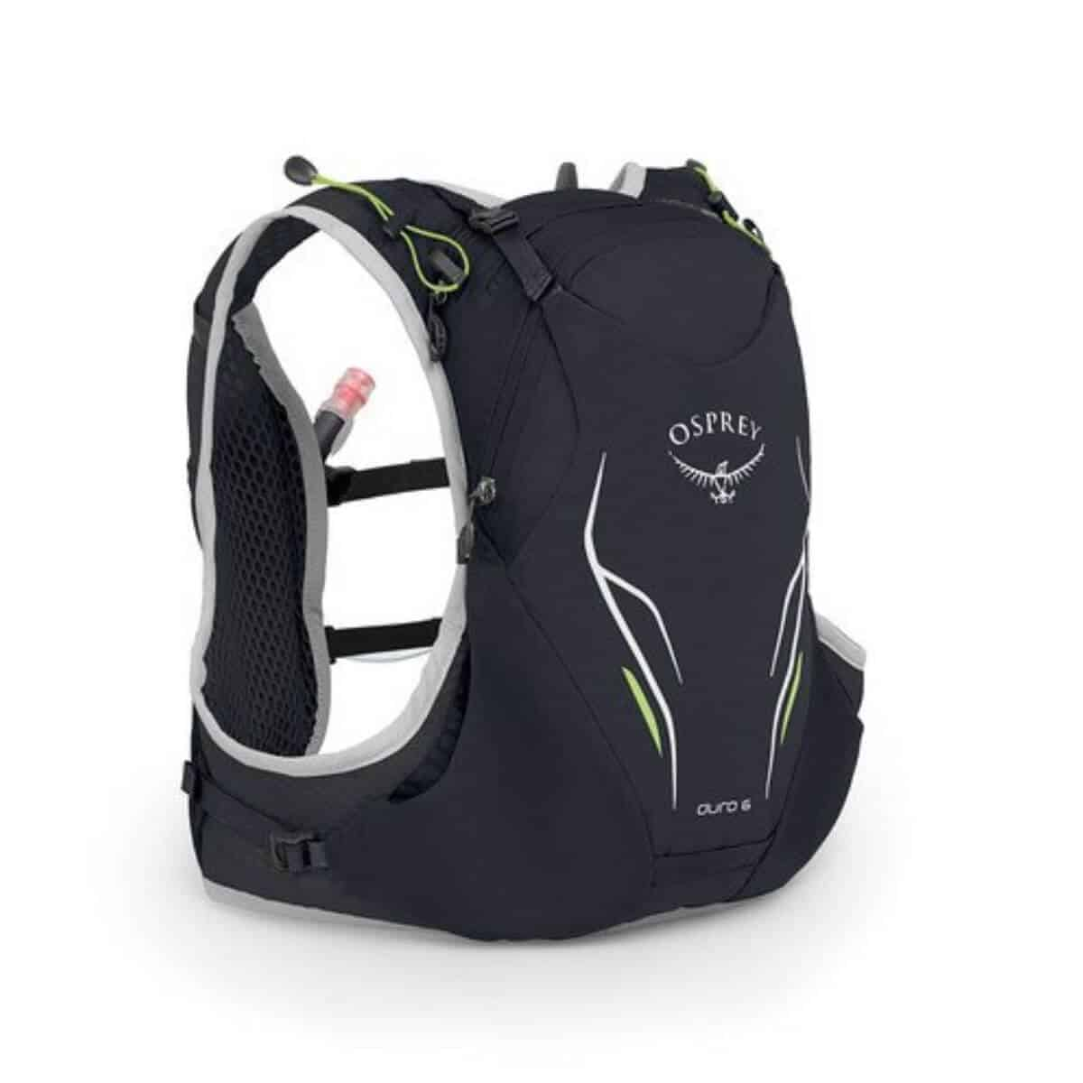 Black hydration pack.