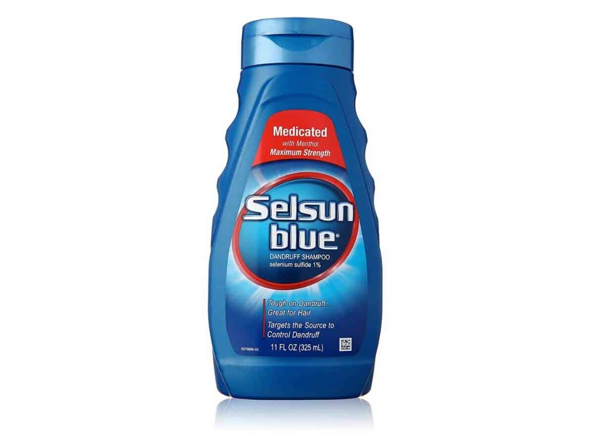 Selsun Blue shampoo.